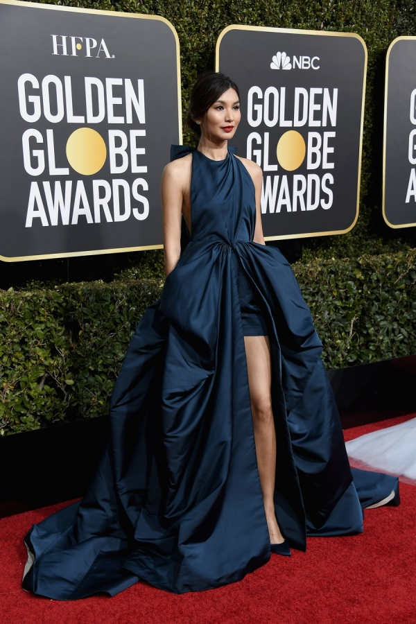 Gemma Chan, Valentino Haute Couture, Golden Globes 2019, 76th edition, red carpet, best dressed, Hollywood,