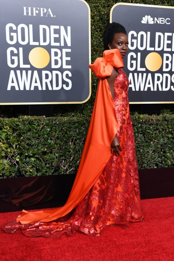 Danai Gurira, Rodarte, Golden Globes 2019, 76th edition, red carpet, best dressed, Hollywood,