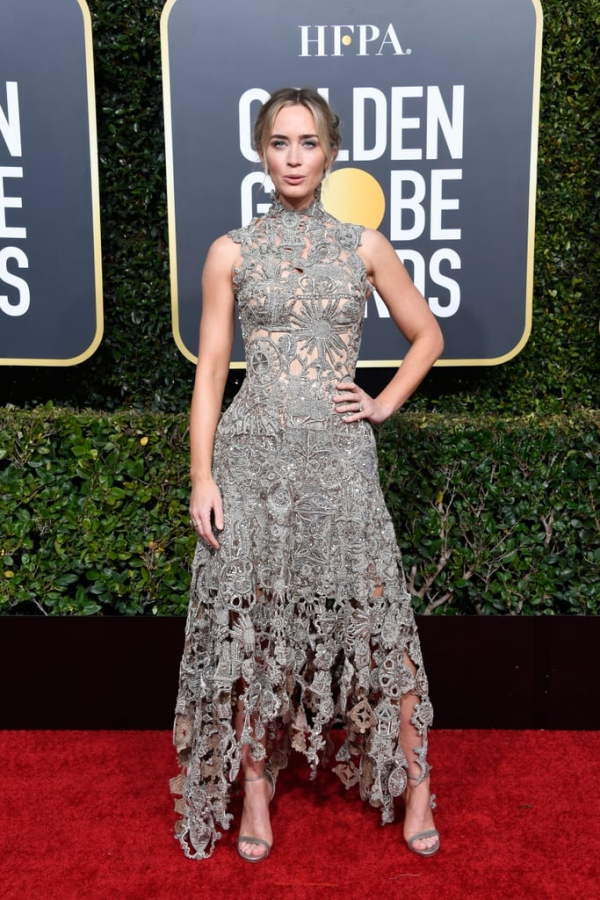 Emily Blunt, Alexander McQueen, Golden Globes, 2019, red carpet, Hollywood, California, best dressed