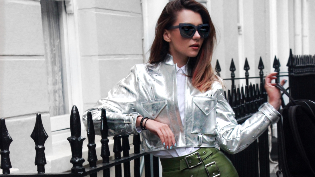 Luana Codreanu, LFW, Last MInute Couture, street style, fashion blogger, influencer, style, Concepto, Philip Lim, Sunglasscurator, Cathias Edeline, boots, leather skirt, London Fashion Week, leather jacket, trends, brands, ootd